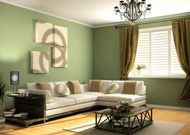green living room remodel