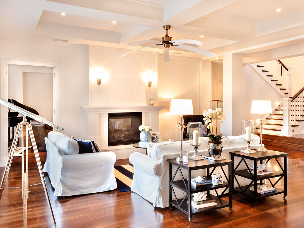 white living room with white furniture